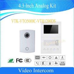Kit analógico de 4,3 polegadas Dahua Intercomunicador de Vídeo (telefone VTK porta-VTO5000C-V1200DS)
