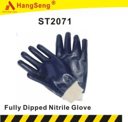 Volledig gecoat nitril Safety Work Glove for Oil and Gas Industrie (ST2071)