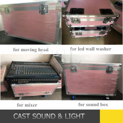 Het nieuwe Geval van de Vlucht van de Aankomst Roze voor Licht DJ/Stage/Geval Speaker/U
