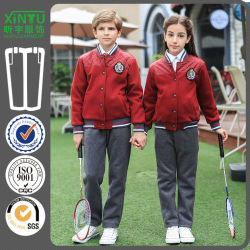 Personnaliser les uniformes scolaires veste de sport l'école primaire écolier vestes et pantalons uniforme chemise et pantalon