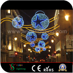 De in het groot Decoratieve LEIDENE van Kerstmis Verlichtende OpenluchtLichten van de Bal