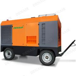10м3/мин Передвижные воздушные компрессоры с приводом от дизельного двигателя компрессора для сверления