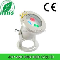 9 Вт светодиодная подсветка RGB подводный прожектор с кронштейн из нержавеющей стали (JP90034)