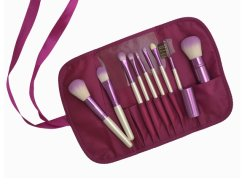 9PCS мягкие синтетические волосы косметический набор щеток для макияжа
