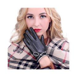 Guanti in pelle di pelle di Sheepskin per touchscreen caldo invernale da donna di alta qualità Per le donne