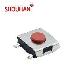 Interruttore tattile di gomma rosso di resistenza termica dell'interruttore di tatto dell'interruttore 6*6 SMD/SMT del silicone