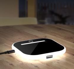 Lampada notturna della staffa del caricabatteria wireless per telefono cellulare multifunzione ODM/OEM di fabbrica Ricarica rapida degli accessori del telefono cellulare