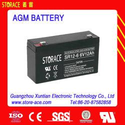 6V 12ah AGM電池または鉛酸蓄電池か蓄電池