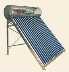 200L evacuou 20 Tubos aço inoxidável aquecedor solar de água