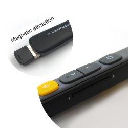 USBのページ・ターニングのPptの提示赤いレーザーのポインターの音量調節の最大100メートル
