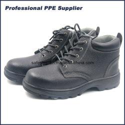 Black Genuine Leather Steel Teen Cap Working voor de industriële veiligheid van mannen Laarzen voor de bouw