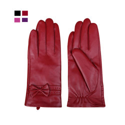 Donna pelle Guadino Ws2023 Auto Guida Fleece pelle pecora inverno Guanti in pelle da biker con rivestimento caldo per donna