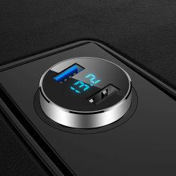 デュアル USB 車載充電器、 4.8A 出力、シガーライター電圧計ユニバーサル互換 USB 充電デバイス、 Fast Car Charger Adapter Mini USB Charger Esg12943