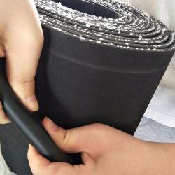 Strato di gomma di rinforzo del nero di gomma della stuoia del pavimento Nr/SBR con l'inserzione di nylon del panno del cotone