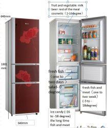 El cristal de tres hogares de la puerta de refrigerador/Electrodomésticos