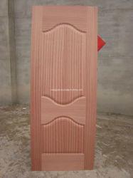 Природные Sapeli шпона HDF литые двери кожи