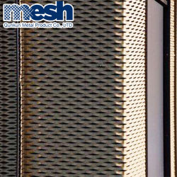 الواجهة المواد المعدنية من تصميم النسيج الشبكي المزخرف والتقنية المنفوزة الألومنيوم الموسّع الأسلاك الشبكة