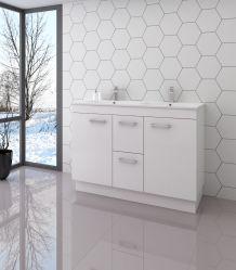 Современная мода для установки на полу большой емкости мебель белого цвета с металлической ручкой