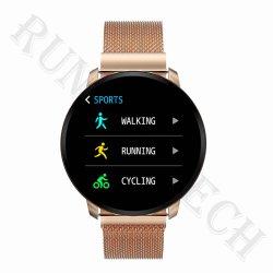 De in het groot Slaap die van Smartwatch van het Roestvrij staal CF68 Androïde Slim Horloge controleren