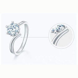 Ringen van de Juwelen van de Diamanten bruiloft van de Overeenkomst van de in het groot Rhodium Zircon van het Plateren van de Juwelen Vrouwen Van uitstekende kwaliteit van de Ring 925 Echte Zilveren