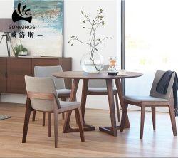 Meubles en bois nordiques Hôtel Round Table à manger fabriqués en Chine Guangdong fabricant