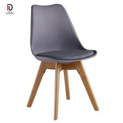 Pieds de bois solide en plastique PP Restaurant classique chaise de salle à manger