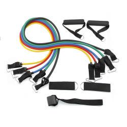 Latex-Widerstand-Bänder stellten Gefäß-Übung mit Griff-Brücken für Trainings-Eignung ein
