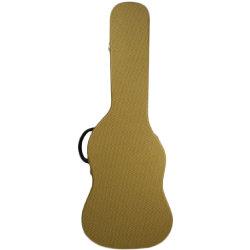 Kundenspezifische Gitarren-geformter gelber Tweed-elektrische Gitarren-harter Kasten