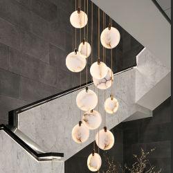 DIY Espanha moderna LED em mármore pendente para pendurar luz para o Hotel Culb, restaurante, Kitechen