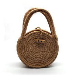 Sacchetto popolare di tessitura personalizzato delle donne del sacchetto di frizione della corda circolare di Handmake