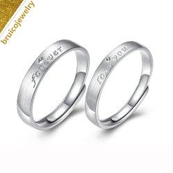 Mode de luxe bijoux en diamants 925 Sterling Silver Jewellery 9K 14K or 18K couple l'anneau de mariage