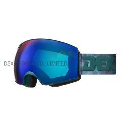 Ski van de Beschermende brillen van de Sneeuw van de Glazen van Snowboard van de Douane van de Lens van Italië de Permanente Mist Magnetische