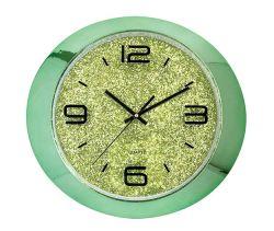 """15"""" Овальный игристое желтый европейского пластиковый 3 с левой Quartz Настенные часы"""