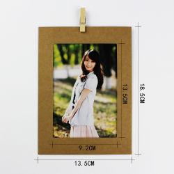 Maak je eigen ontwerp Goedkope Kraft papier fotolijst 5X7