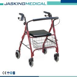 Ayudas para caminar de aluminio con cuatro ruedas