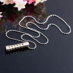 La moda cinturas finas frasco de perfume de acero inoxidable joyas Colgante Collar