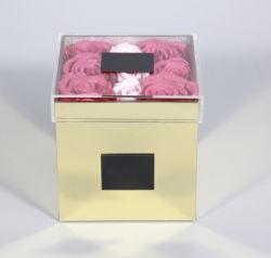 9 trous miroir Acrylique Crystal fleur boîte cadeau d'emballage