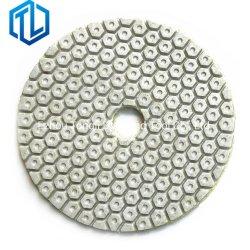 2019 Venta caliente Diamante en seco pads de pulido/ 4pulgadas mejor pastilla de pulido en seco