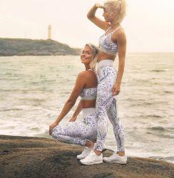 نظام يوغا مجموعة مع طبعة داخليّ لياقة أنشطة لباس نظام يوغا ملابس