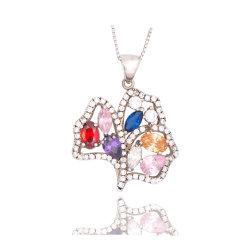 贅沢で多彩なジルコンの水晶吊り下げ式のロマンチックな約束デザイン方法結婚式の宝石類