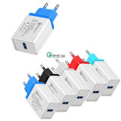 QC3.0 настенное зарядное устройство USB для мобильных ПК быстрой зарядки зарядного устройства