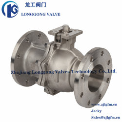 DIN ISO5211는 직접 패드 Wcb/CF8/CF8m Pn16-40 스테인리스 플랜지 공 벨브를 거치한다