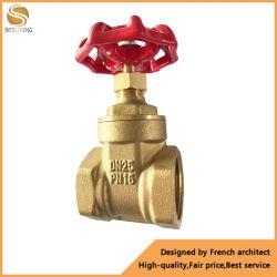 Rosca hembra de latón de la válvula de compuerta Válvula de bola de montaje del tubo de fontanería