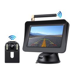 4.3インチの背面図のモニタのマルチ言語操作を用いる無線バックアップカメラキット
