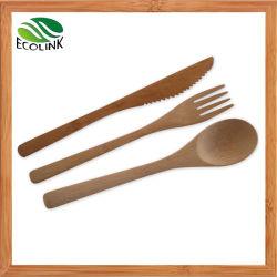 タケスプーンおよびフォーク/タケ食事用器具類はセットしたり/タケ平皿類セット