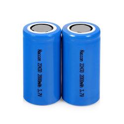 22430 personalizadas de íon de lítio de alta taxa de descarga Pack de bateria recarregável de iões de lítio de 3.7V 2000mAh com certificações
