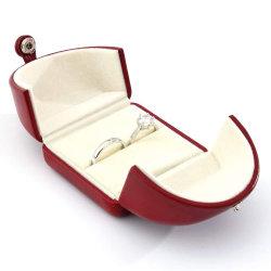 Velvet Jóias Personalizadas Monitor de Apresentação de casamento de couro Caixa de Anel