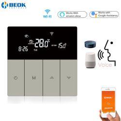 Wekelijkse Programmeerbare het Verwarmen van de Boiler van het Huis van de Bedrading van de Thermostaat van de Zaal WiFi Thermostaat
