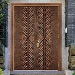 Оптовая торговля строительный материал переднего Custom наружные защитные элементы из алюминия вход двойной Bullet доказательства безопасности железные двери металлические стальные вступления пуленепробиваемые двери