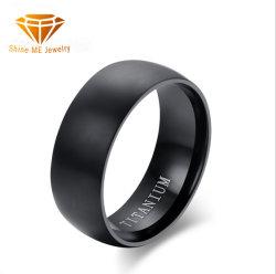 Venda por grosso de fábrica Jóias de homens anéis jóias de titânio sólido moda anéis para homens anéis de Titânio Preto Clássico TR1996